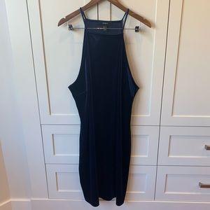 Forever 21+ Navy Blue Velvet Halter Dress